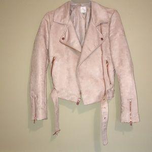 Pink Lauren Conrad Jacket with Rose Gold Details